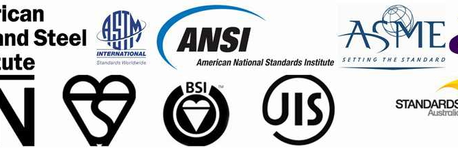 astm aisi asme ansi jis etc standards