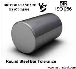 round steel bar tolerance bs 970 vs iso 286
